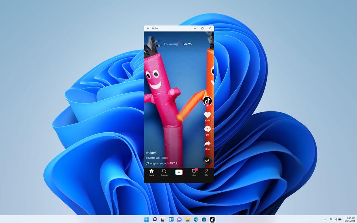 Windows 11 Android TikTok