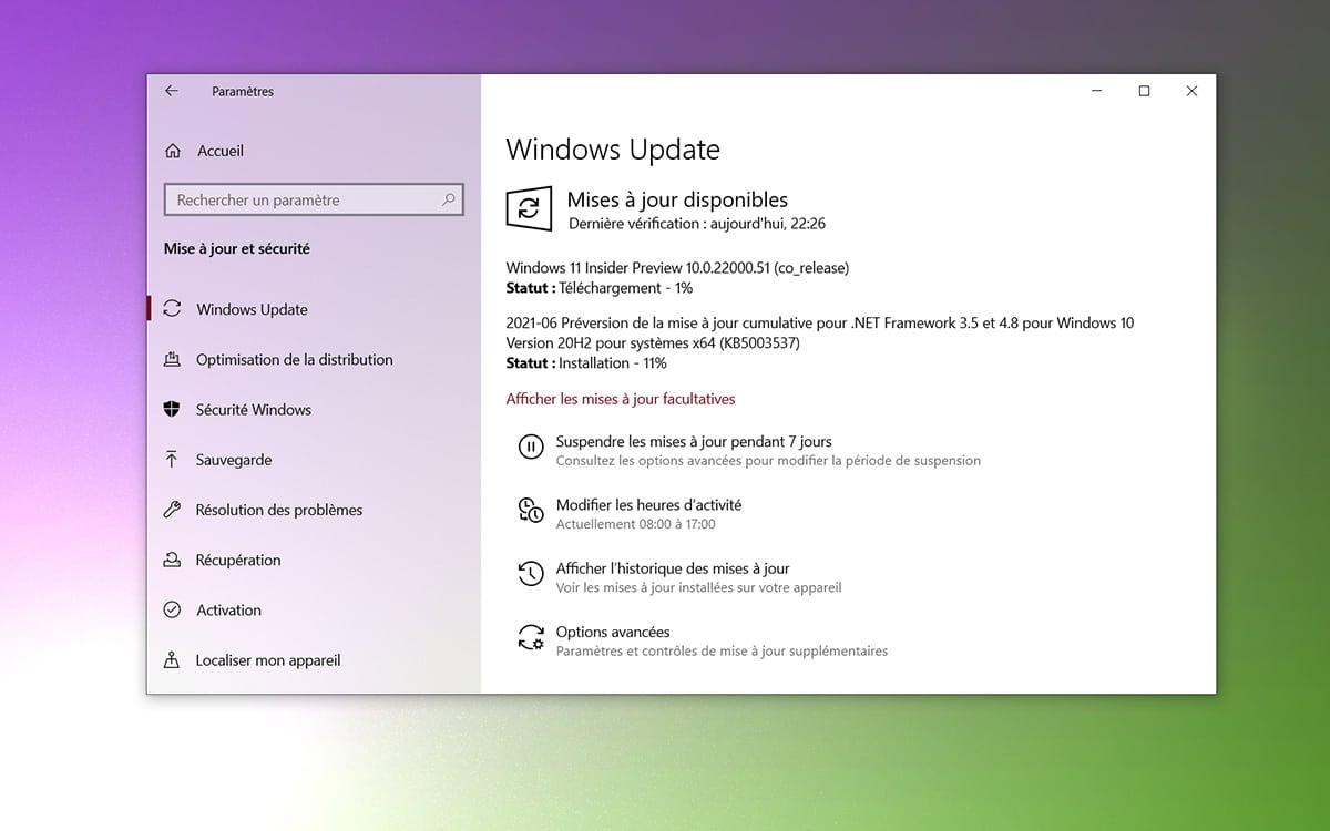 Actualización de compilación de Windows 11