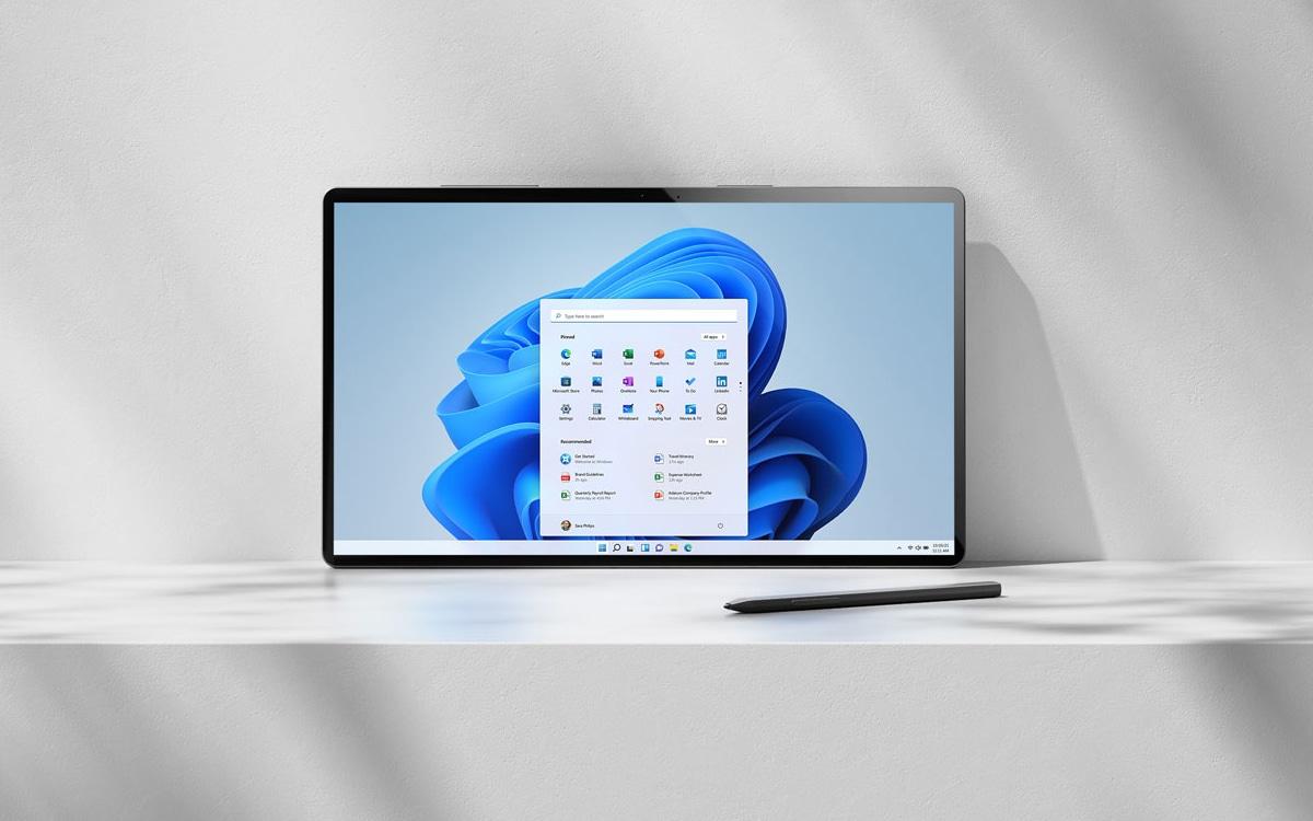 Windows 11 Tablette Stylet
