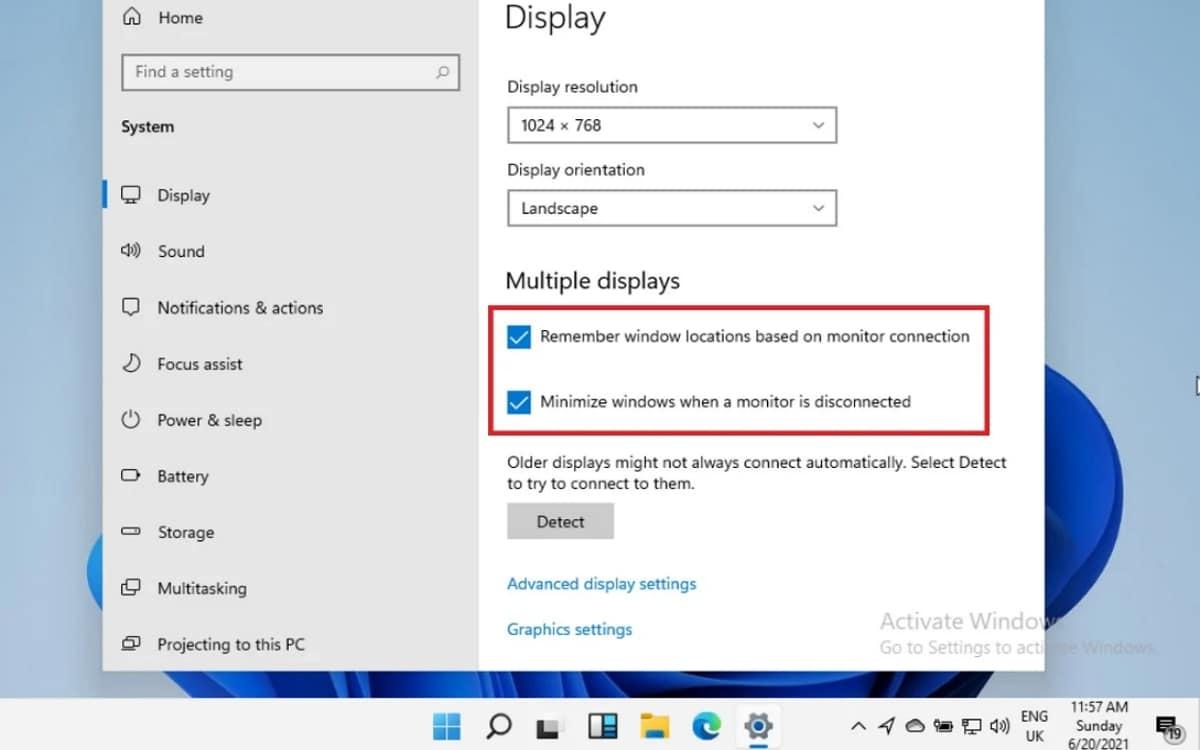 Windows 11 gestion des écrans
