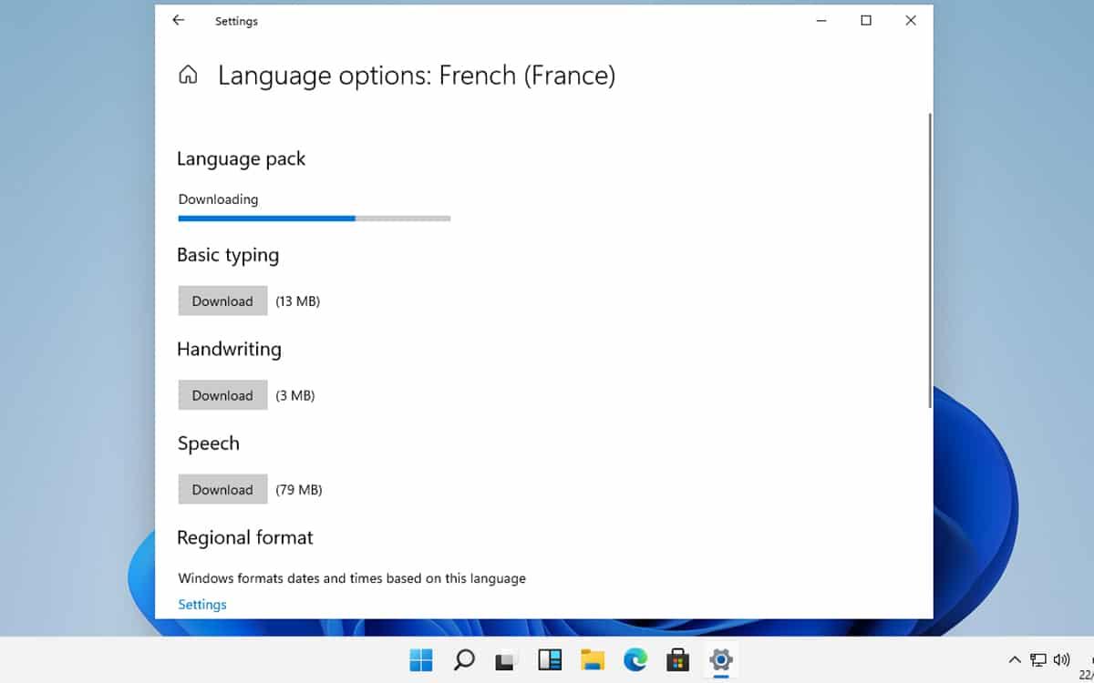 Sprachoptionen für die Installation von Windows 11