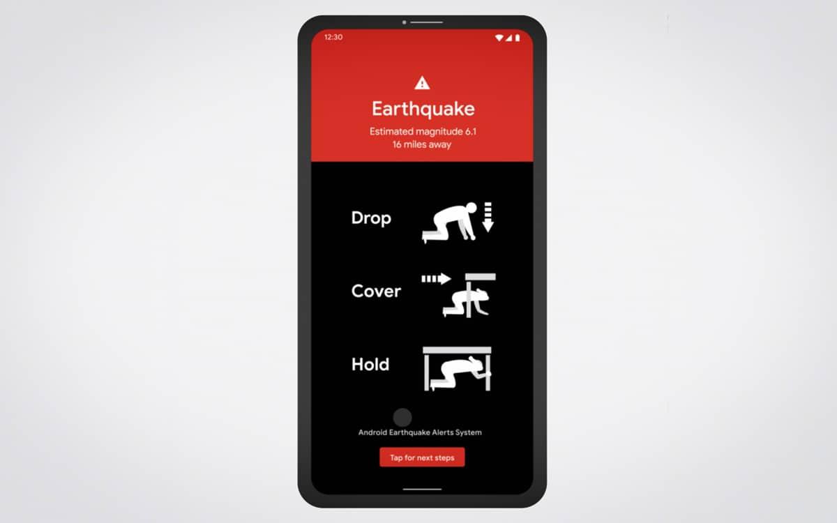 android earthquake