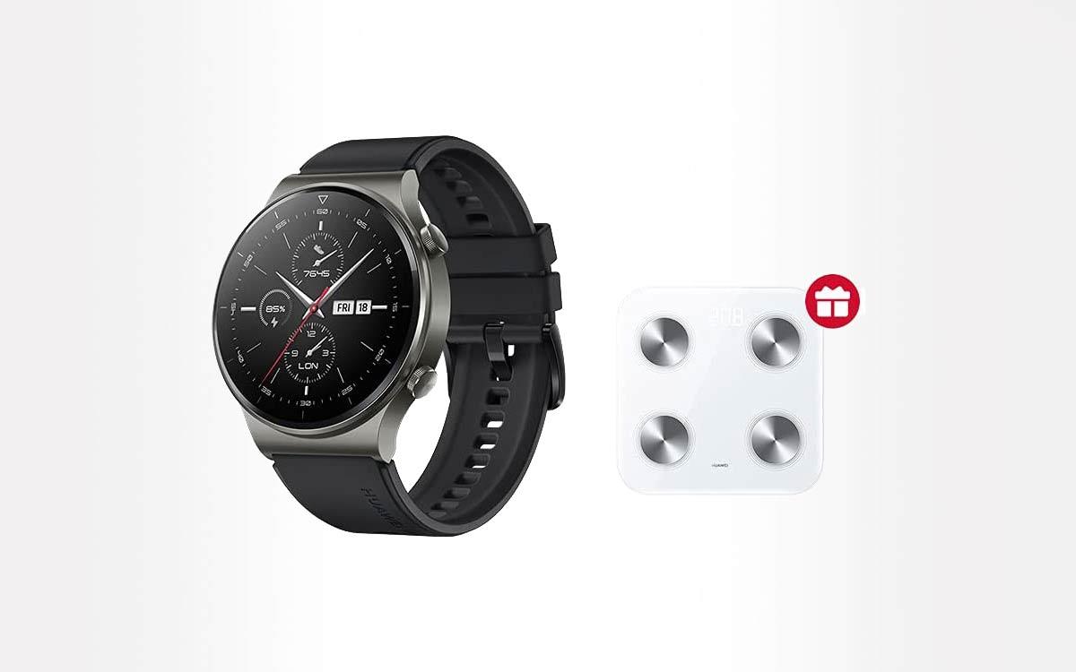 Huawei Watch GT2 Pro + balance connectée