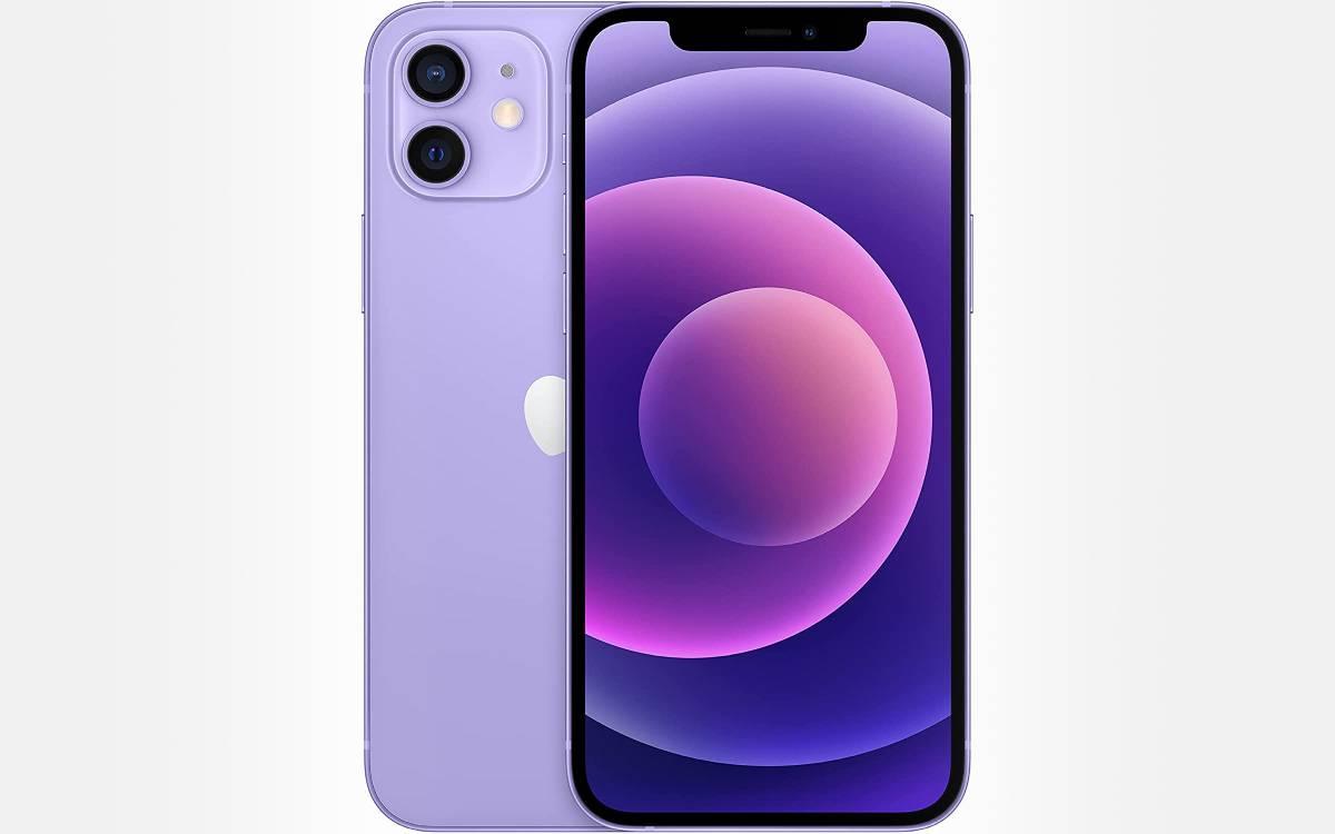 iPhone 12 violet en baisse de prix
