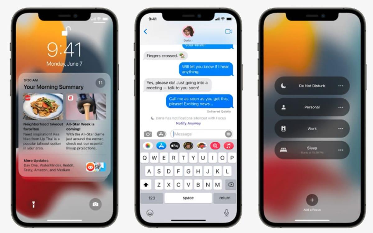 ios 15 notifications - Apple présente toutes les nouveautés de la mise à jour