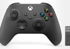 manette Xbox avec adaptateur