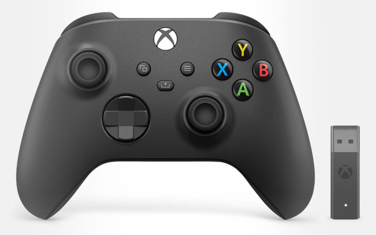 manette Xbox avec adaptateur sans fil
