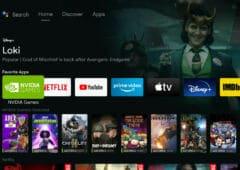 nvidia shield interface google tv