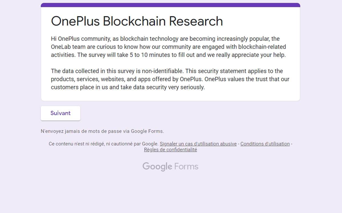 oneplus blockchain