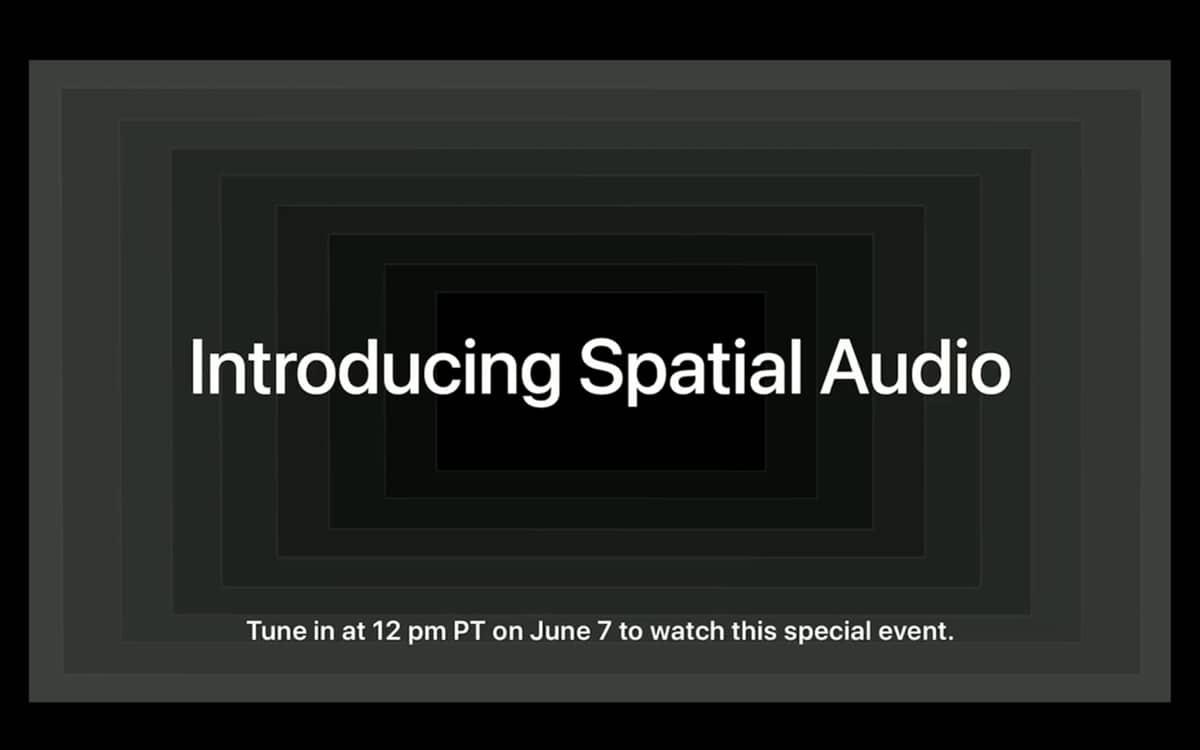 Apple audio spatial