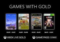 xbox games gold juillet