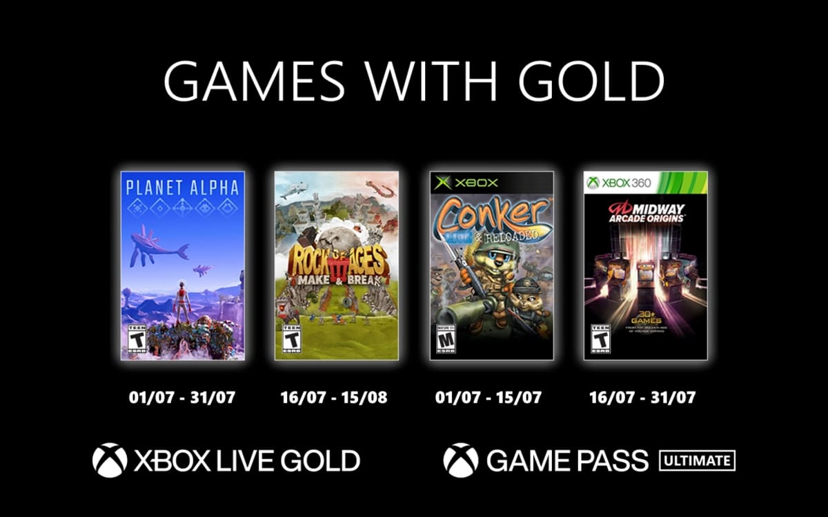 xbox games gold