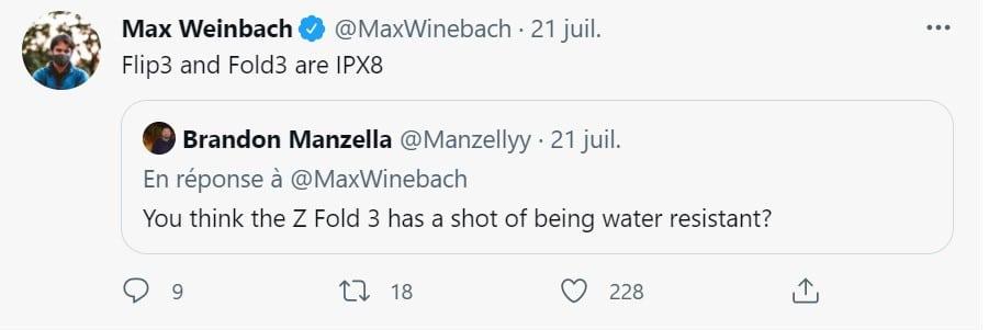 tweet Max Weinbach