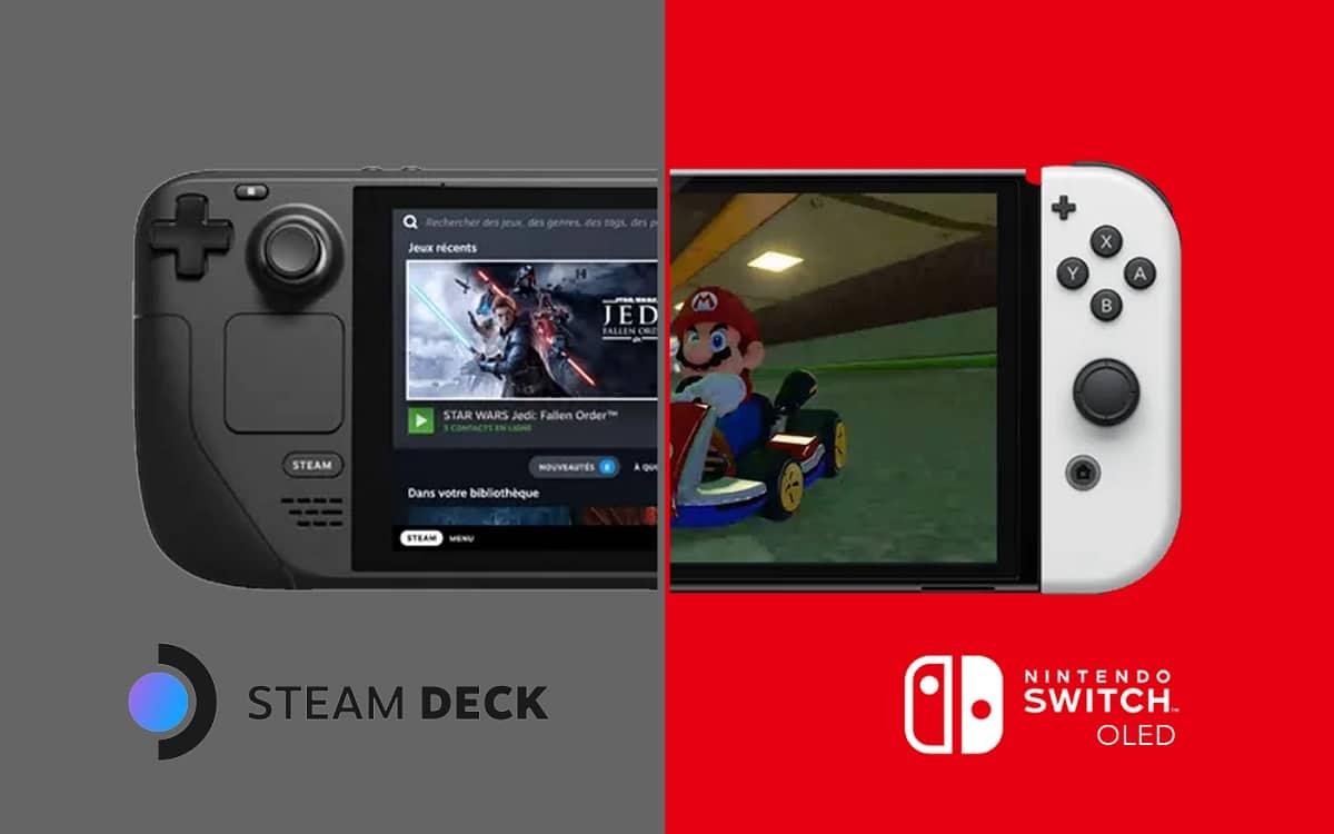 Comparatif steam deck vs nintendo switch oled