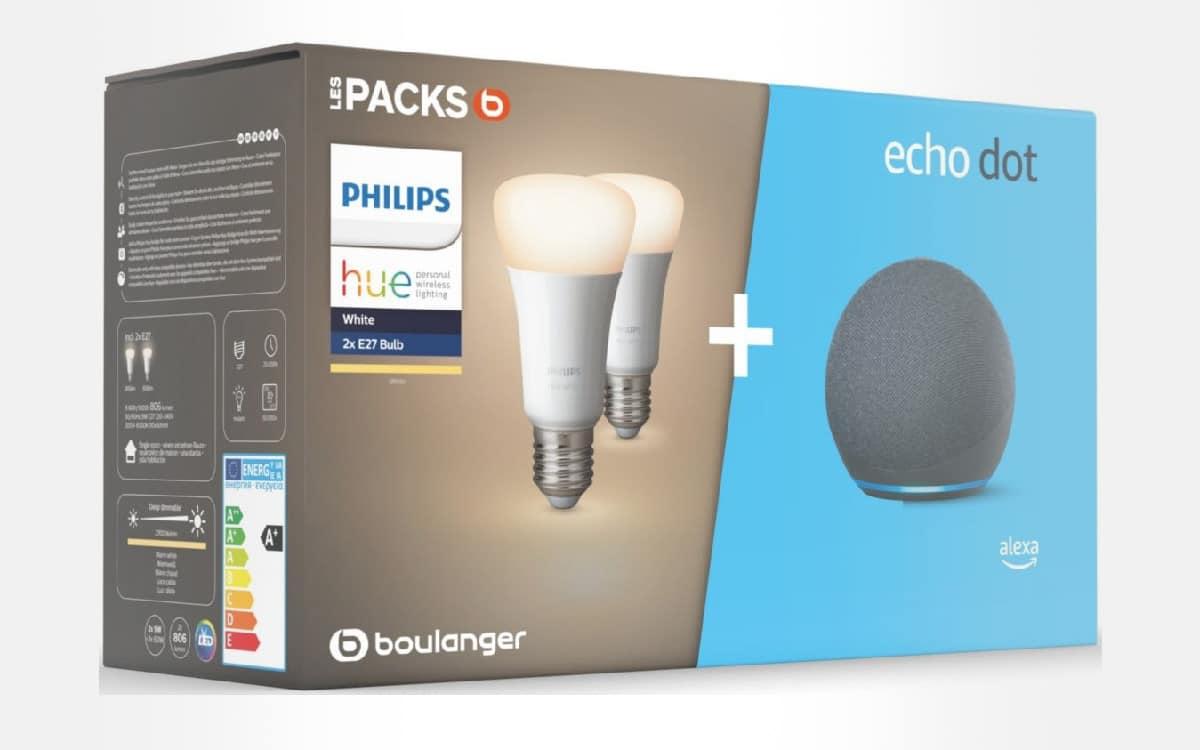 Echo dot 4 ampoules Philips