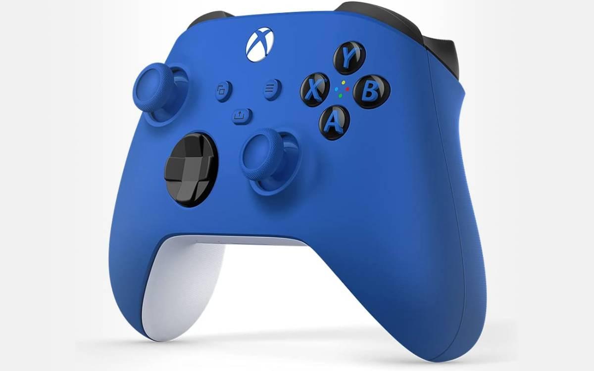 Manette Xbox Shock Blue à prix réduit