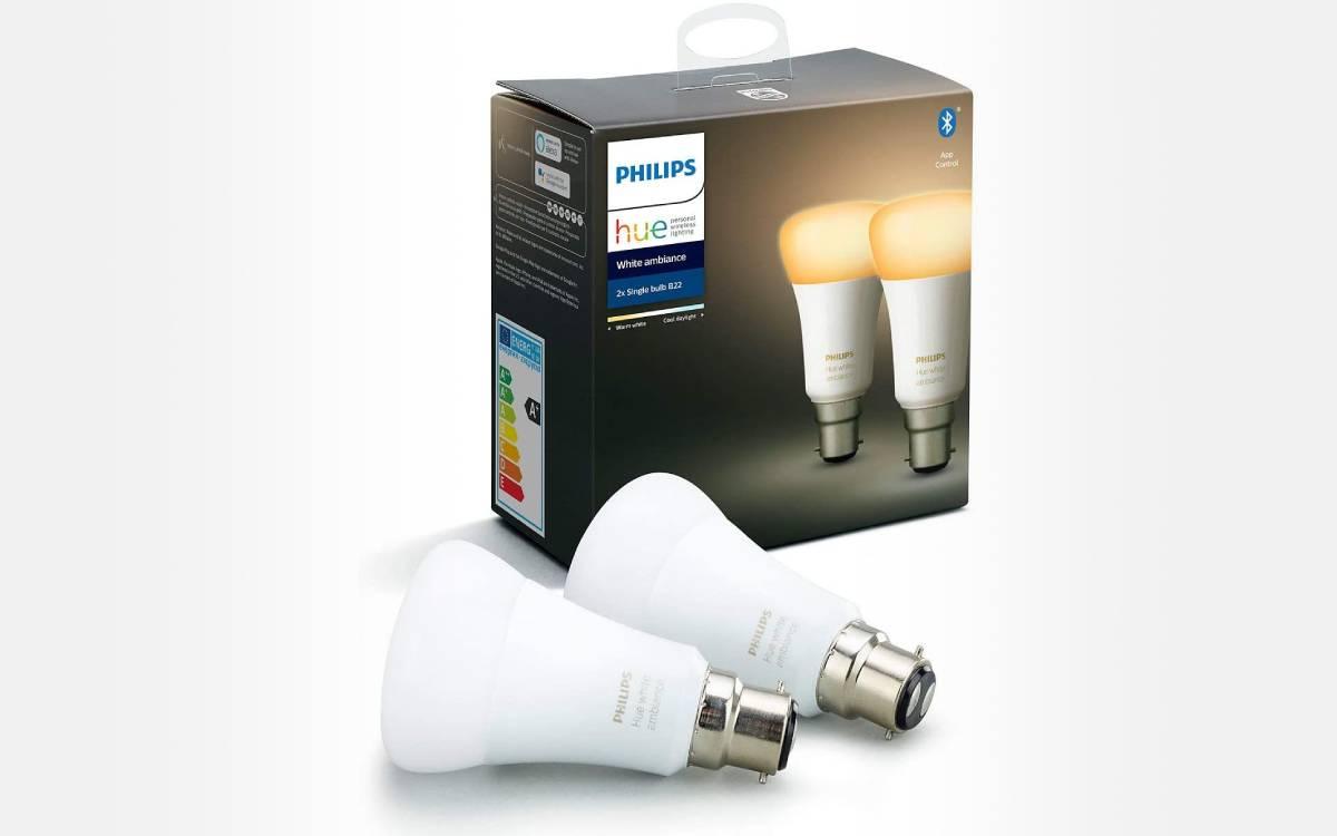 ampoules Philips Hue B22 à prix réduit