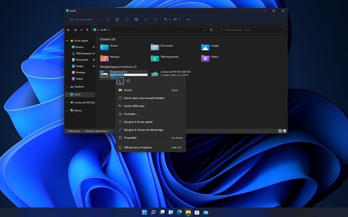 Windows 11 Right click