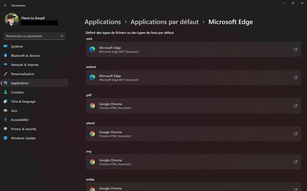 Windows 11 navigateur défaut