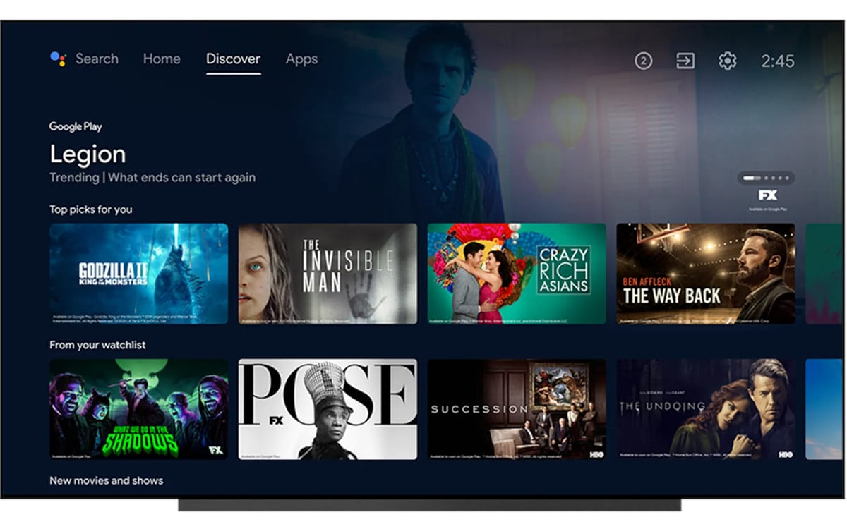 android tv recommandations google tv