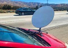 antenne starlink sur voiture