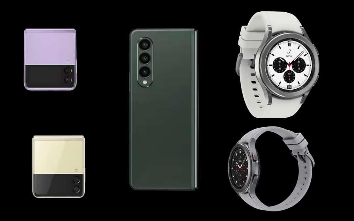 galaxy z fold 3 z flip watch 4 design