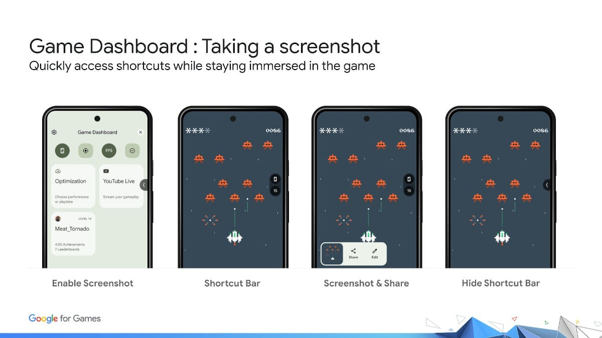 google android 12 game dashboard