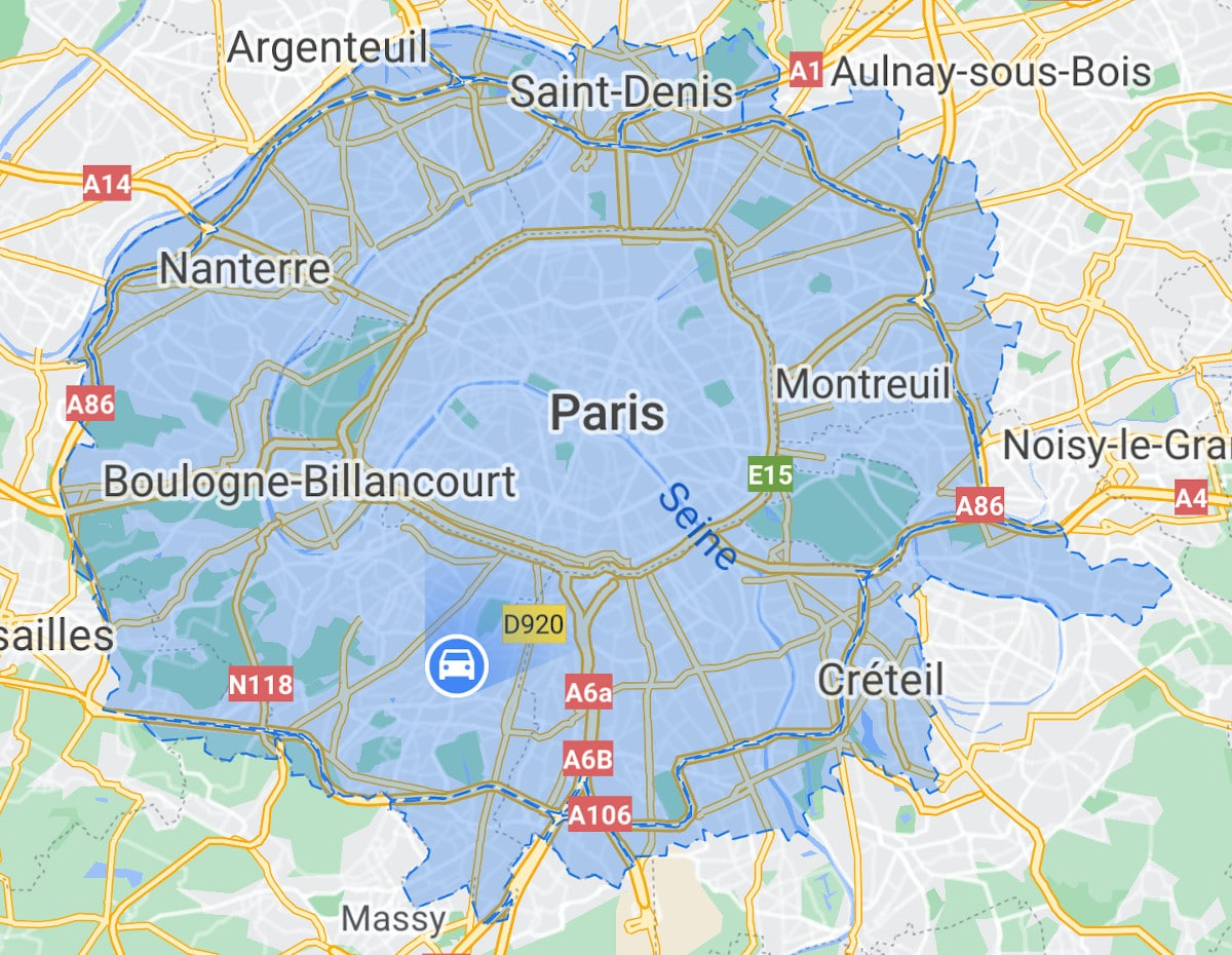 google maps zone faible emission