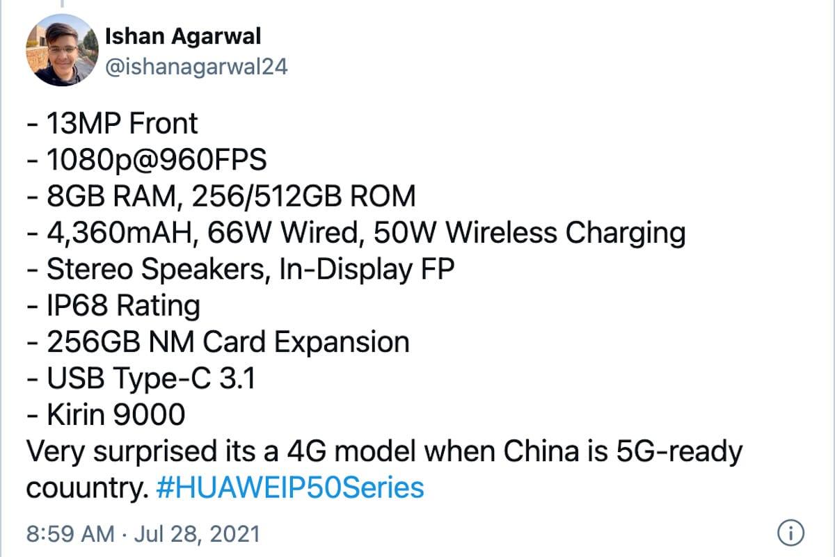 Huawei P50 Pro 4G Kirin 9000 Voit