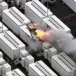 tesla batterie explosion