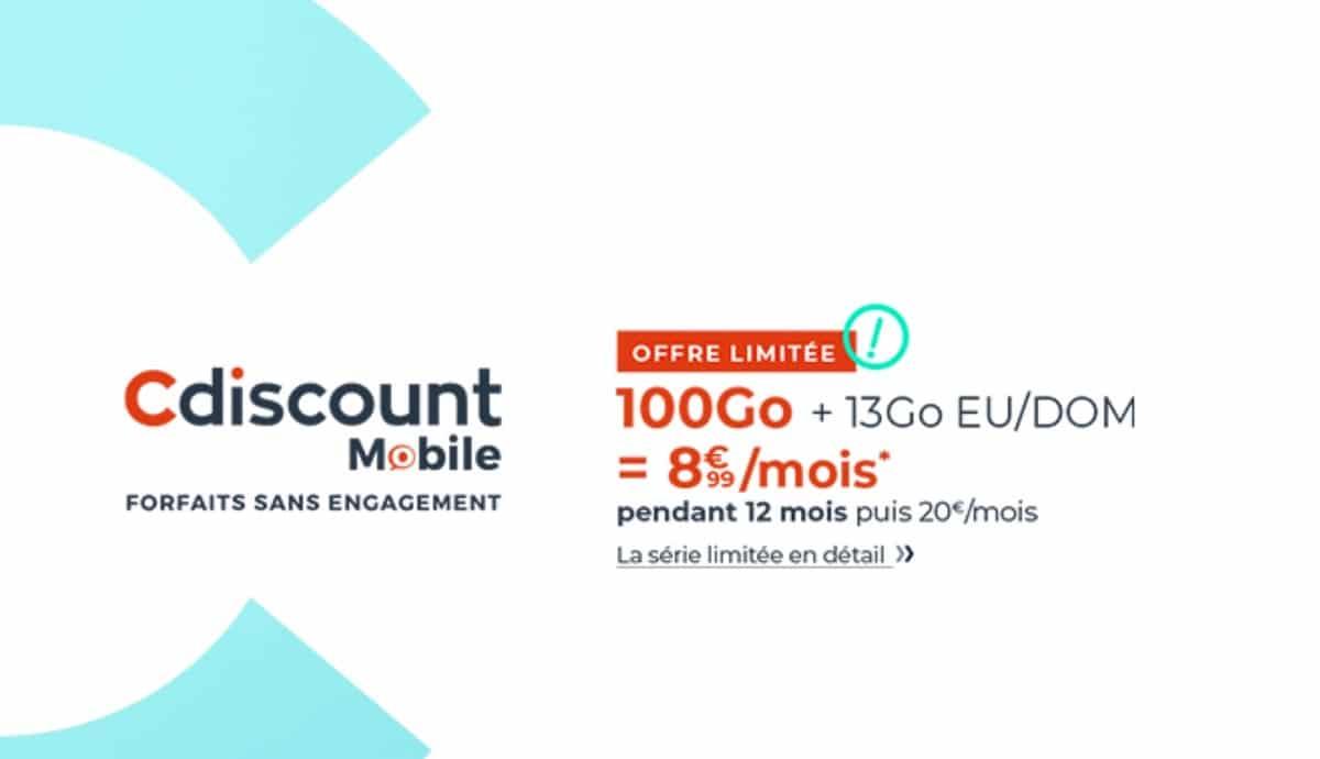 Forfait Cdiscount Mobile 100 Go
