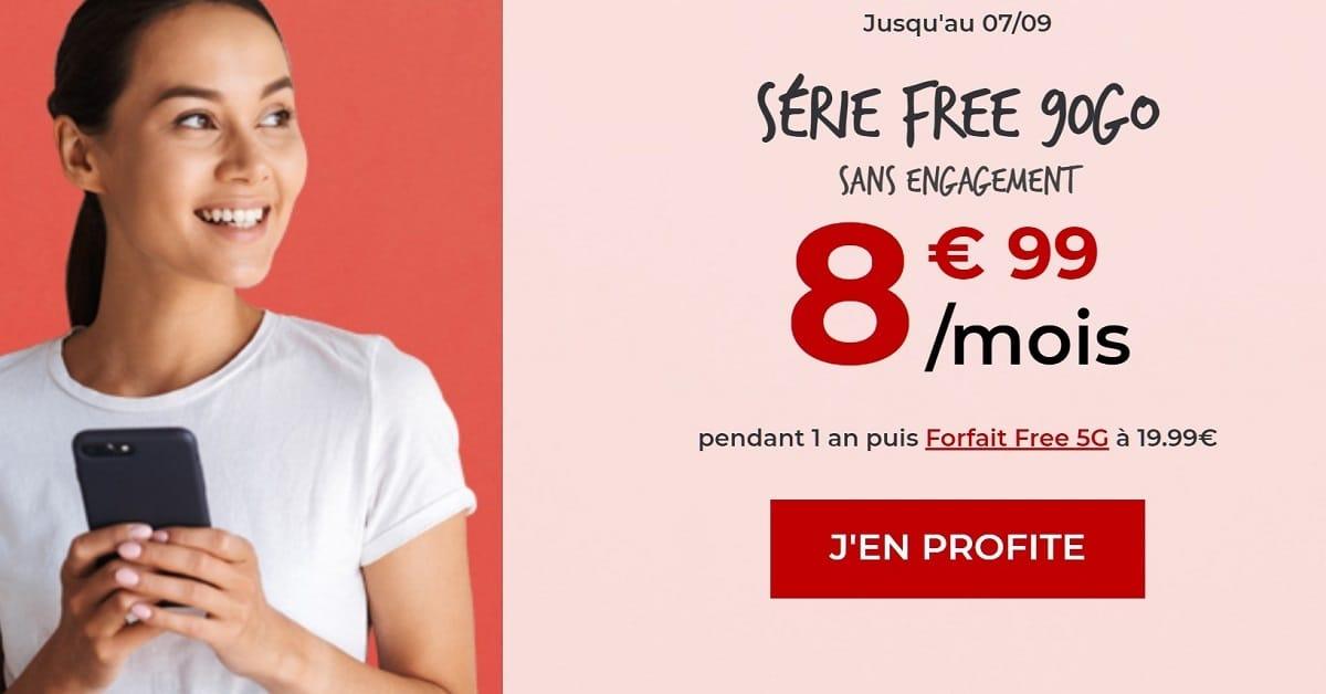 Forfait mobile Free 90 Go