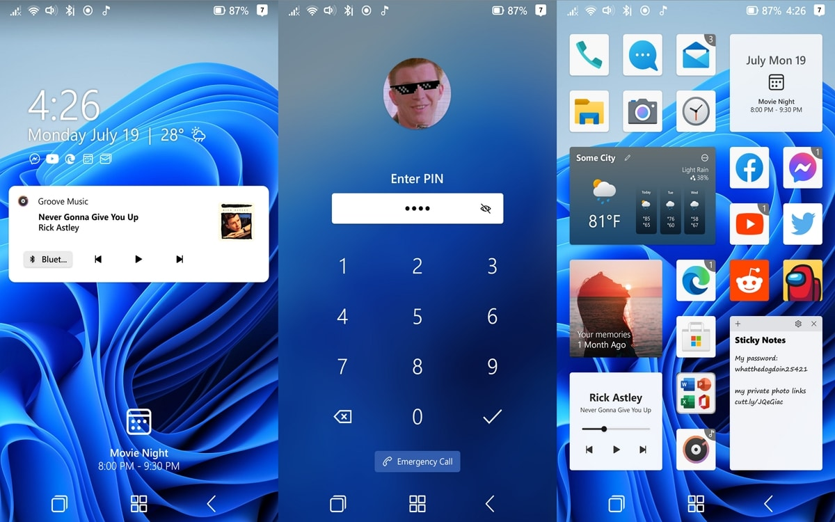 Windows 11 sur smartphone
