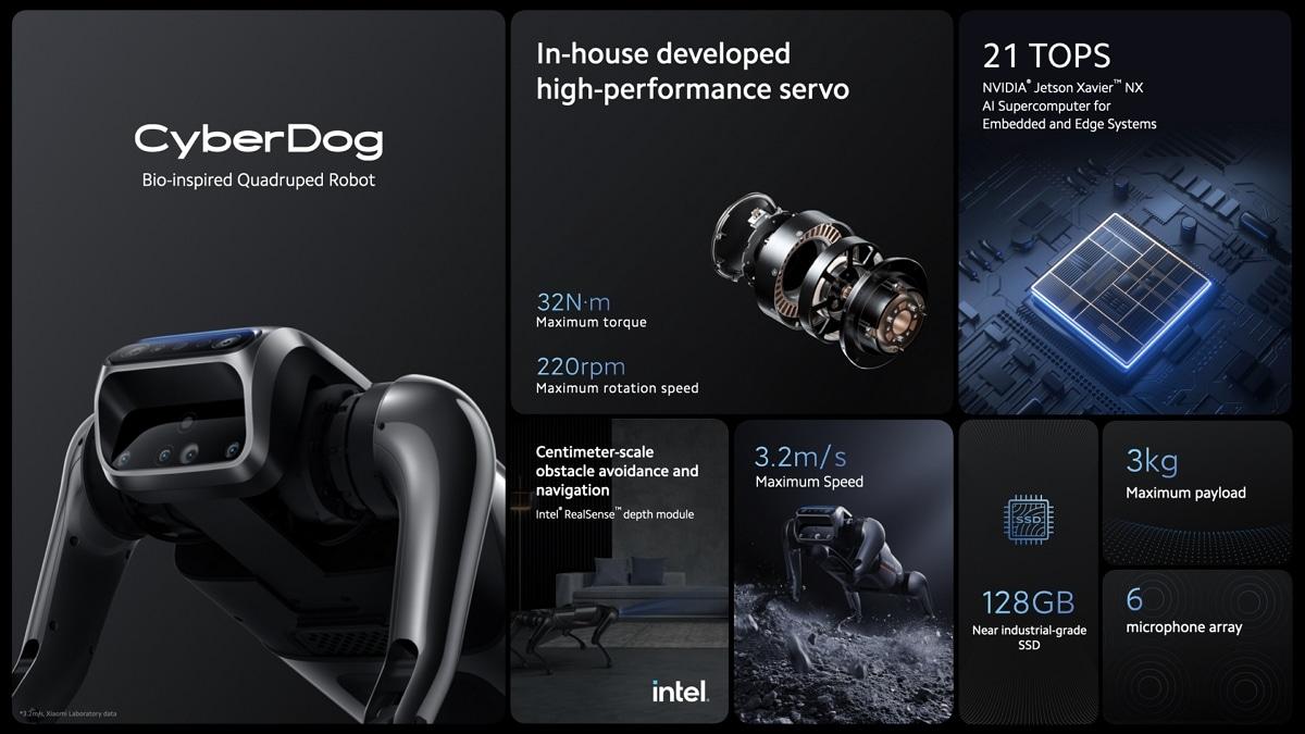 Xiaomi CyberDog Specs