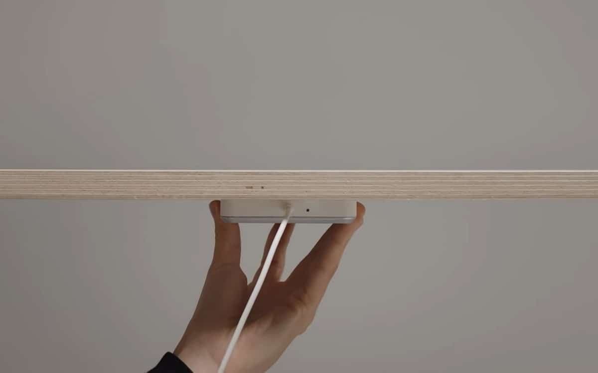 Ikea chargeur sans fil invisible