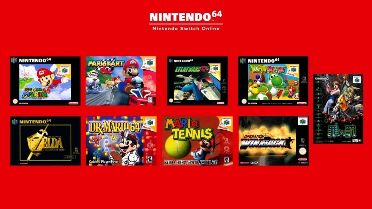 Nintendo Switch jeux 64