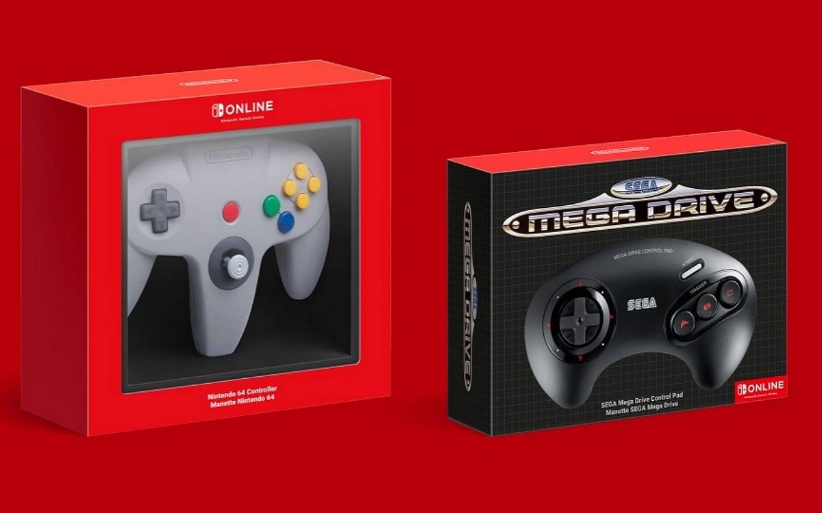 Nintendo Switch manettes 64 et megadrive
