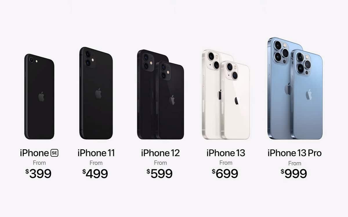 Prix iPhone 13