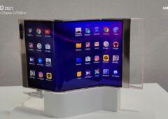 Samsung Display écran pliant en trois parties