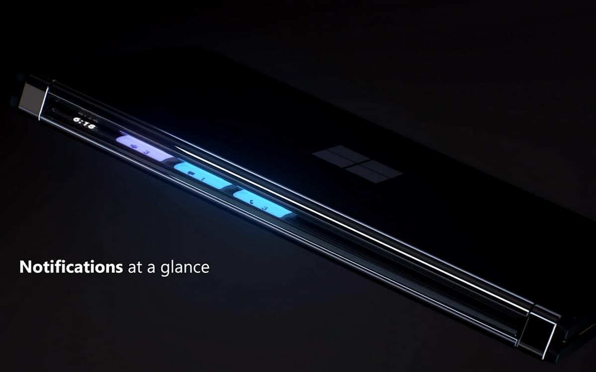 Surface Duo 2 Glance Bar