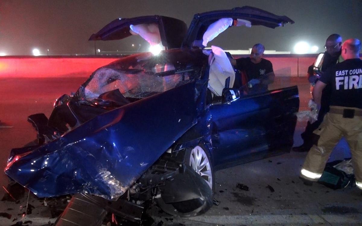 Tesla model X accident scott engle