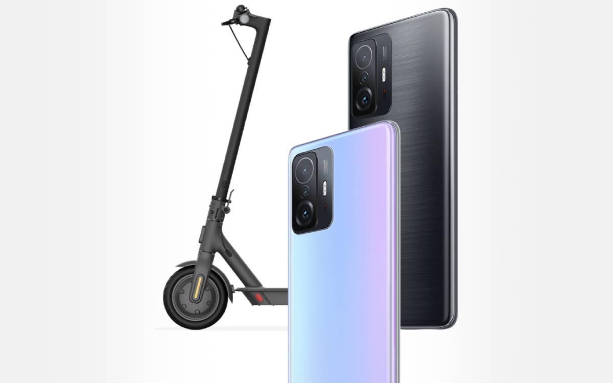 bundle Xiaomi 11T trottinette Mi Essential