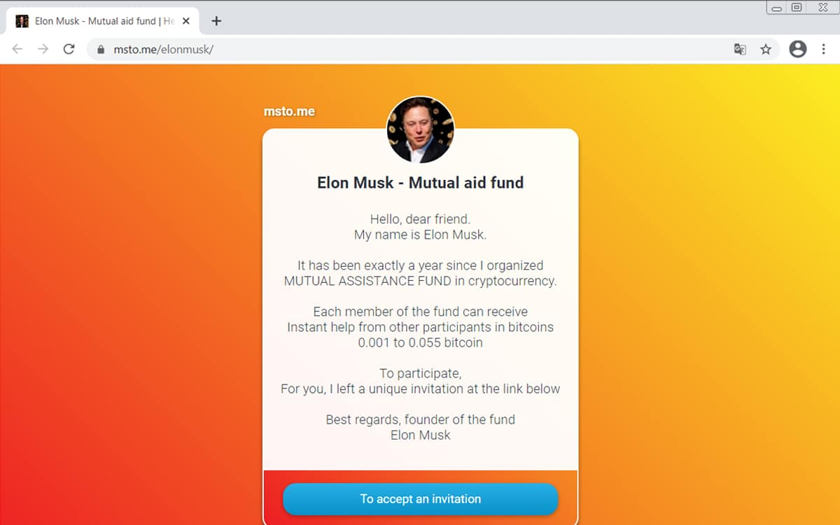 elon musk arnarque bitcoin