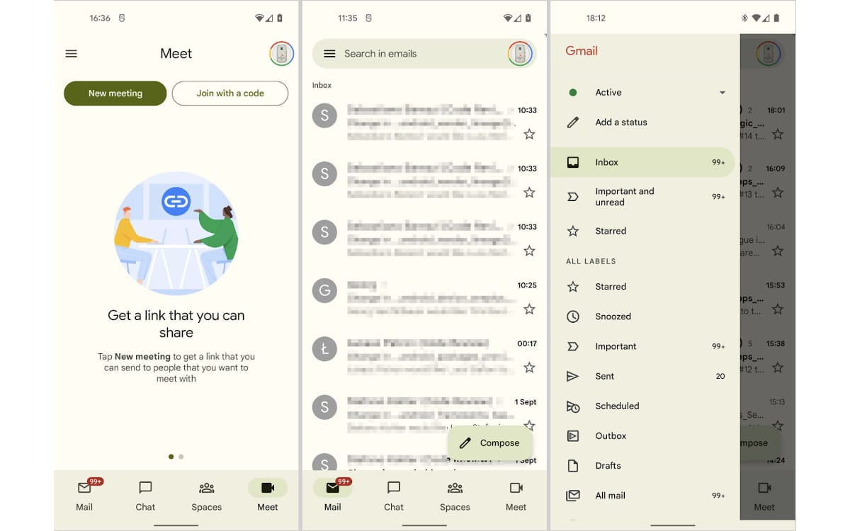 google gmail material you android 12