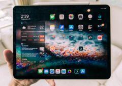 iPad Pro en mode paysage