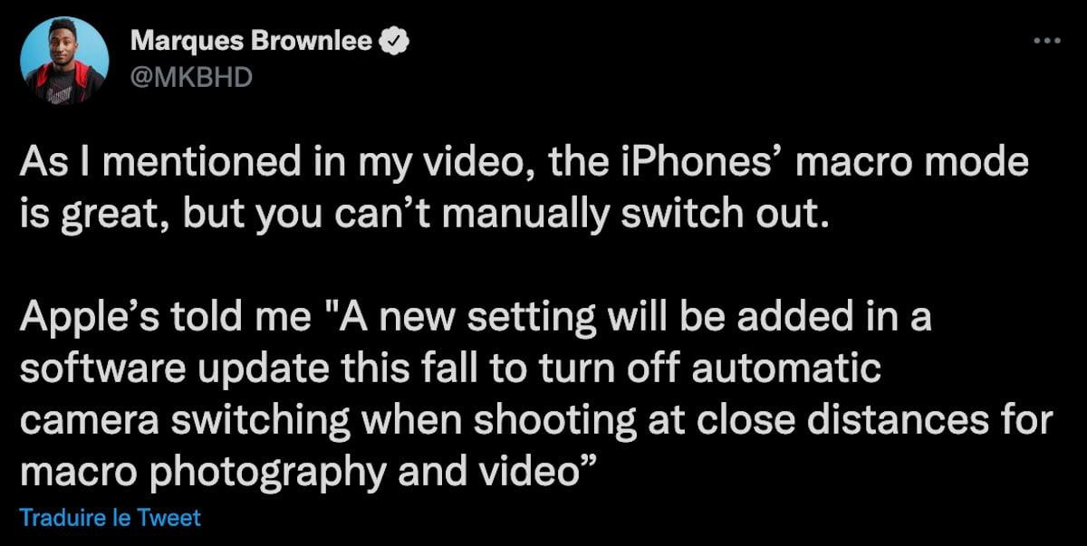iphone 13 pro mode macro auto