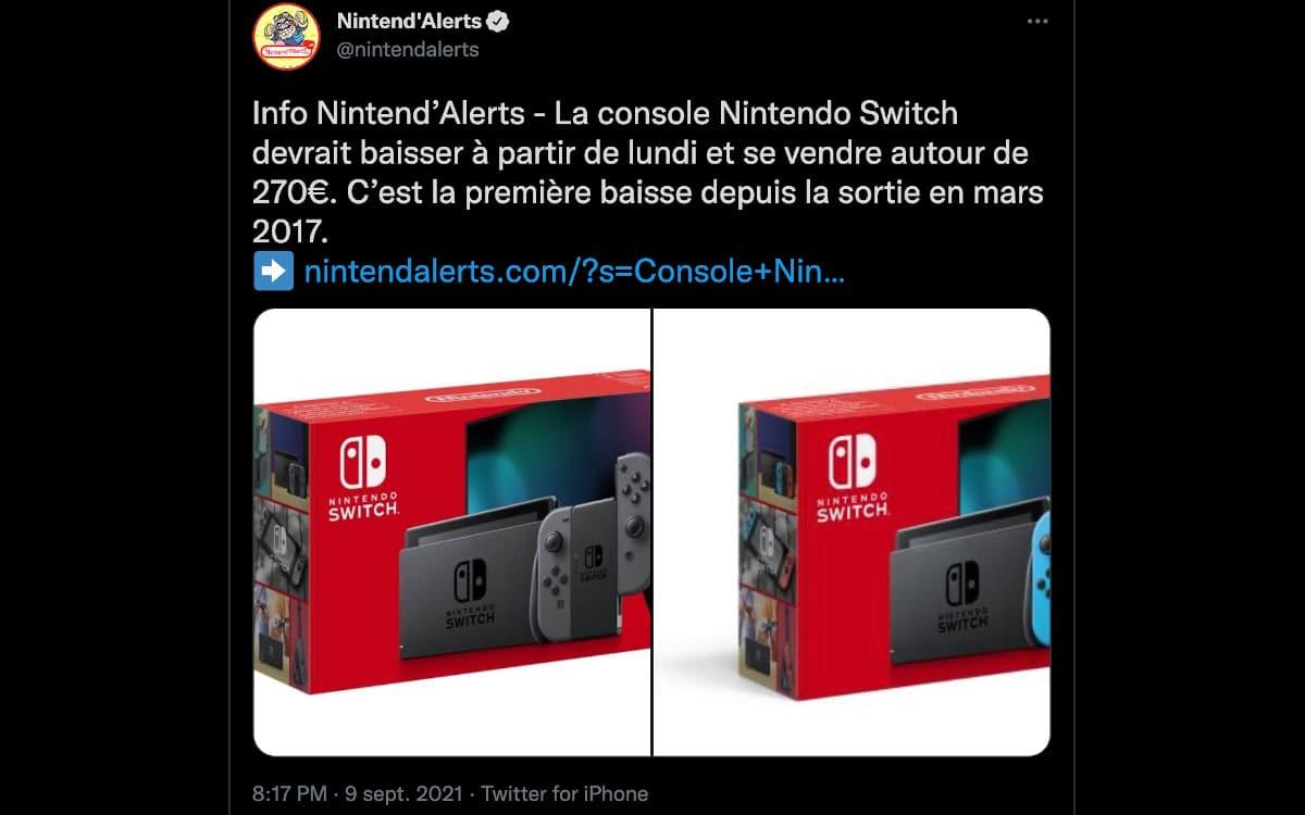 nintendo switch baisse de prix rumeur