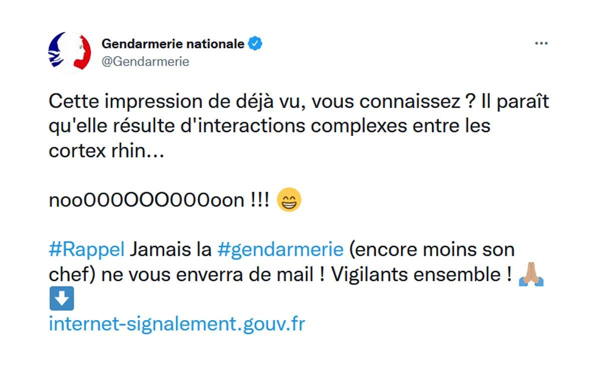 twitter gendarmerie