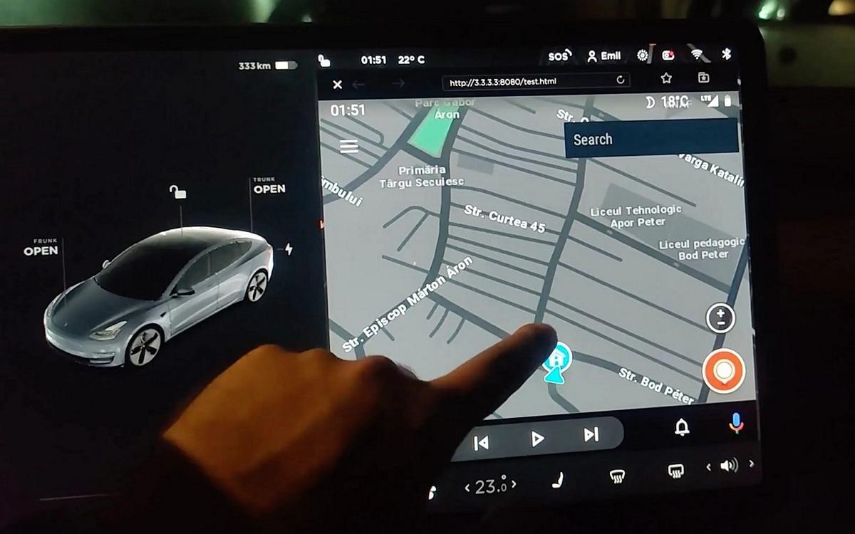Android Auto dans une Tesla