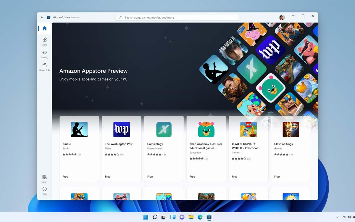 windows 11 applis android
